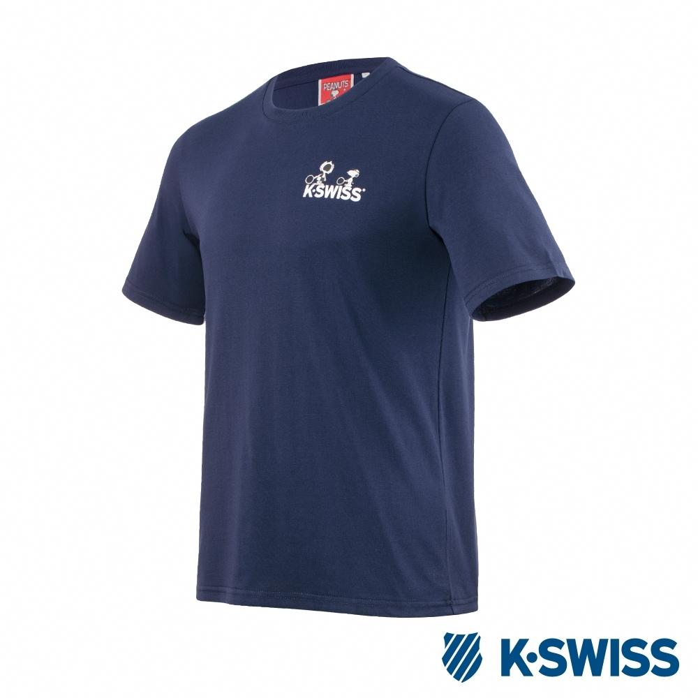 K-SWISS Classic Original SNOOPY短袖T恤-男女-深藍