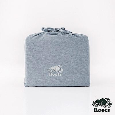 ROOTS有機棉雙人加大床包-灰