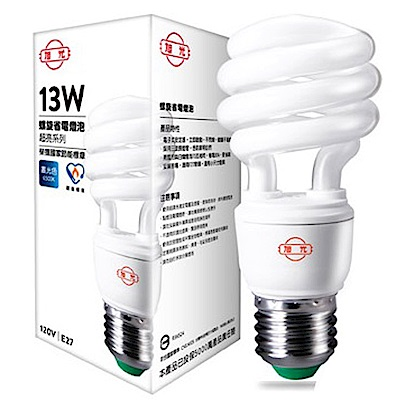 旭光.13W超輕薄白光電子麗晶燈(6入) FSL-13EXD