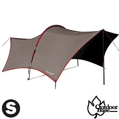 Outdoorbase 150D 小哈比移動旅程天幕布(S)/耐水壓10000mm_咖啡色