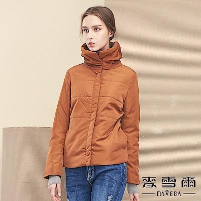 【麥雪爾】簡約時髦打摺翻領舖棉外套