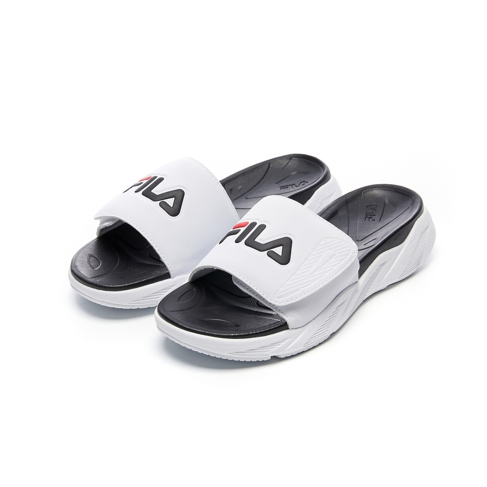 FILA ZEN SLIDE 中性拖鞋-白 4-S140V-014