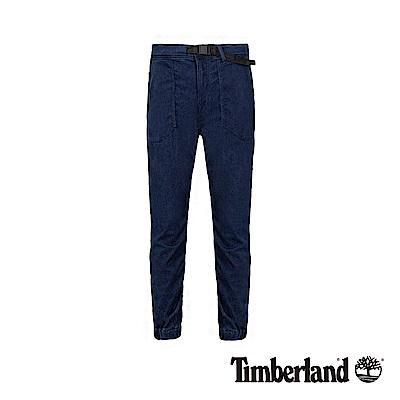 Timberland 男款深藍色蜂巢牛仔布修身錐形束口褲|A1WE5