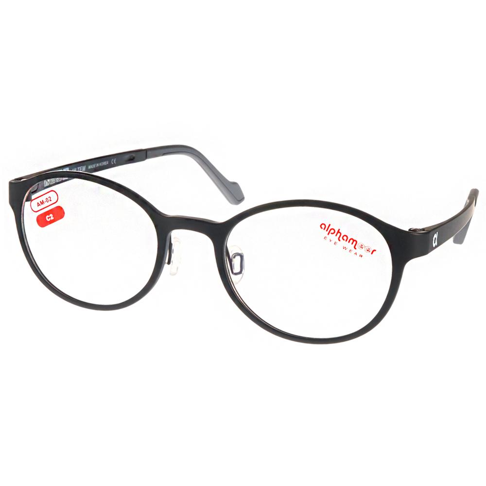 Alphameer光學眼鏡 韓國塑鋼系列/霧黑#AM02 C02