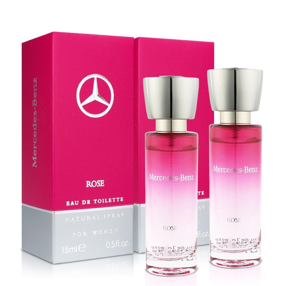 Mercedes Benz 賓士 玫瑰情懷女性淡香水小香(15ml)X2入