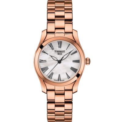 TISSOT天梭 T-Wave 優雅姿態時尚腕錶(T1122103311300)