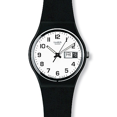 Swatch 原創系列 ONCE AGAIN 再一次黑手錶