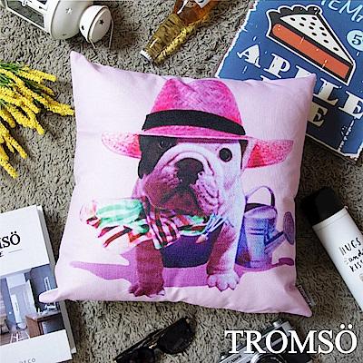 TROMSO 品味英倫棉麻抱枕-紳士法鬥