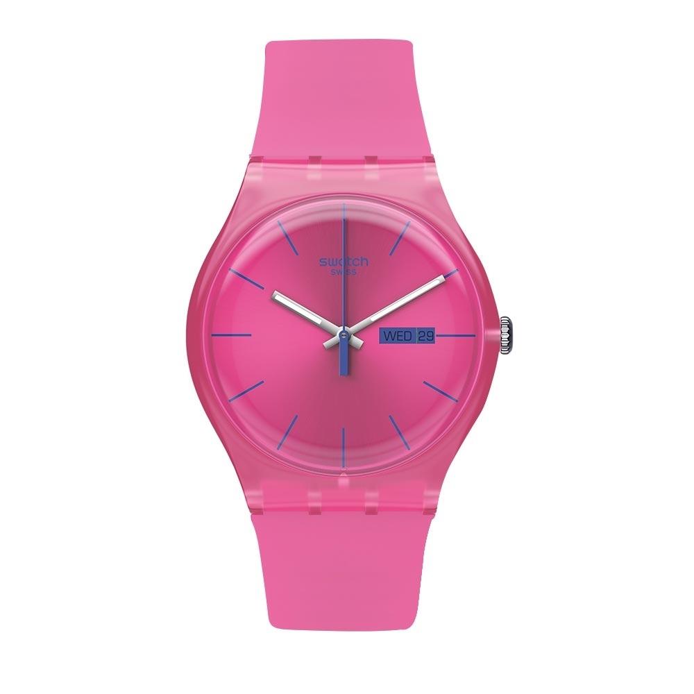 Swatch Rebel Aagin 系列手錶 PINK REBEL 反叛霓虹 -41mm