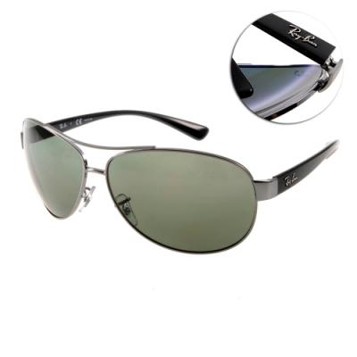 RAY BAN太陽眼鏡 時尚偏光款/黑 # RB3386 0049A-67mm