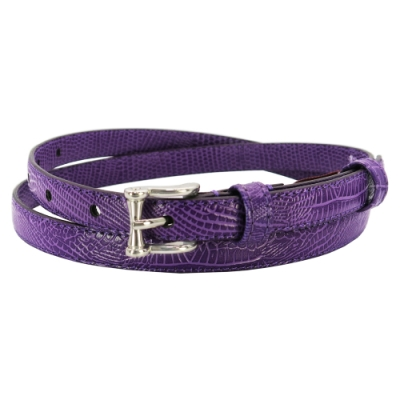 CH-BELT紫羅蘭浪漫百搭超細版女生腰帶皮帶(紫)