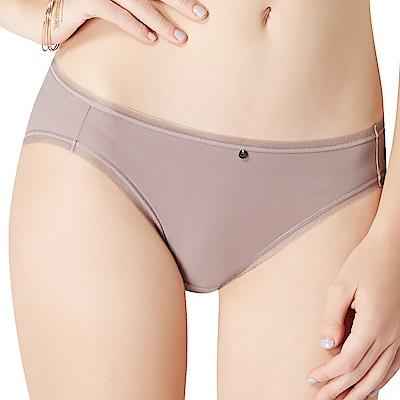 思薇爾 嗨Q Bra系列M-XL素面無痕低腰三角內褲(拿鐵褐)
