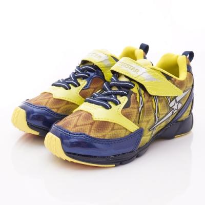 日本月星頂級競速童鞋 勝戰獸運動鞋 EI901黃(中大童段)