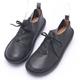 2.Maa 刷舊設計感牛皮綁帶包鞋 - 黑 product thumbnail 1