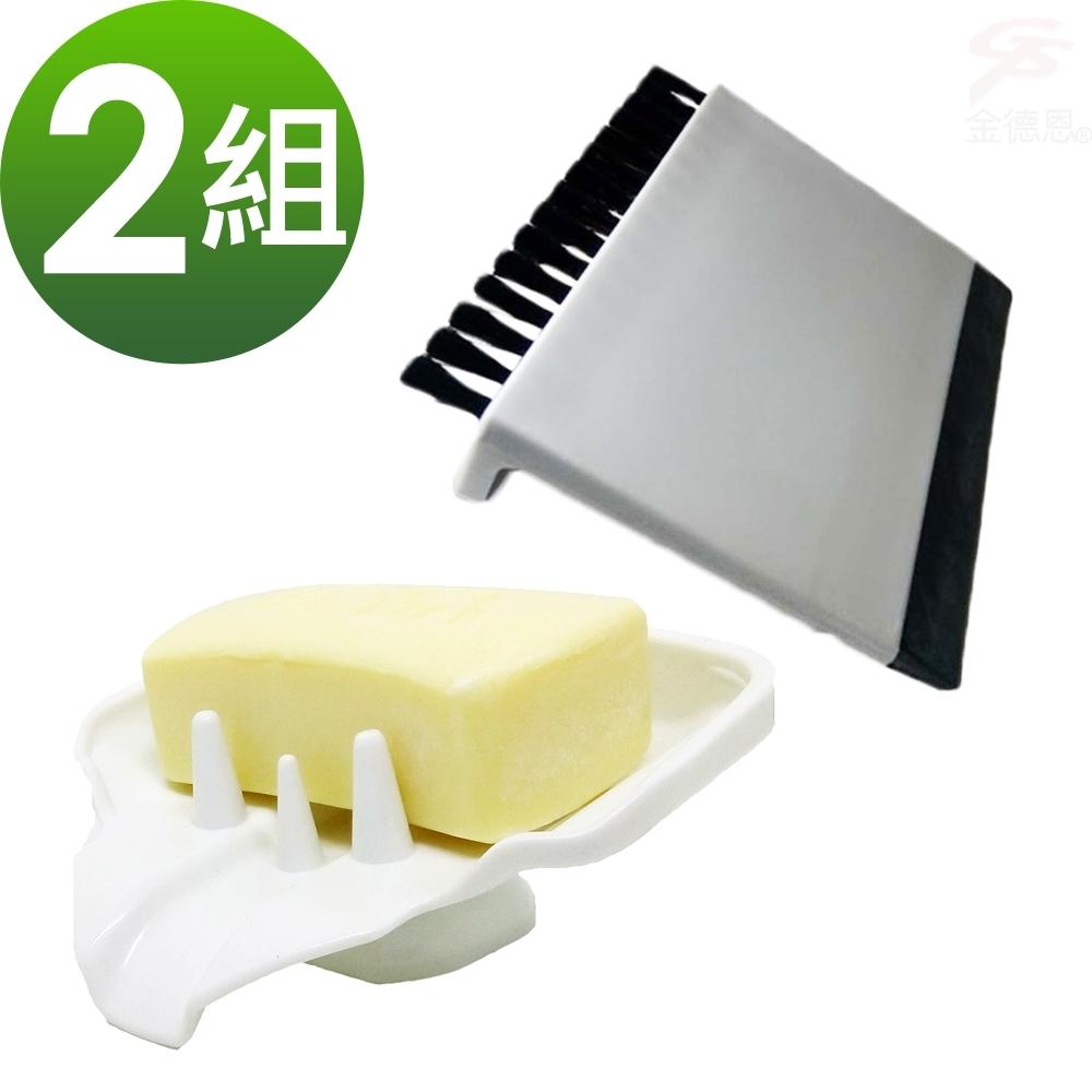 【團購主打】2組香皂菜瓜布水槽鳥嘴瀝水架+送菜渣刮水刷x2