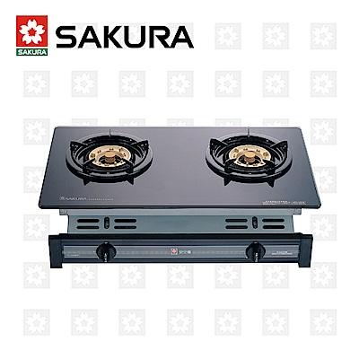 櫻花牌 SAKURA 兩口玻璃面板嵌入爐 G-6500KG 桶裝瓦斯 限北北基配送