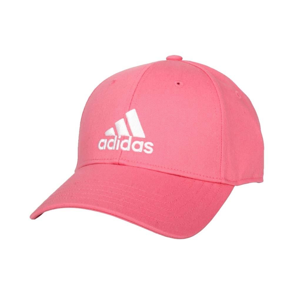 ADIDAS 帽子-防曬 遮陽 鴨舌帽 老帽 純棉 GM6272 粉紅白
