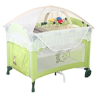 BabyBabe 拱型防夾遊戲床(豪華全配)-果綠