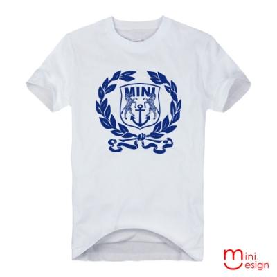 (男款)mini斑馬海錨標章潮流設計短T 三色-Minidesign