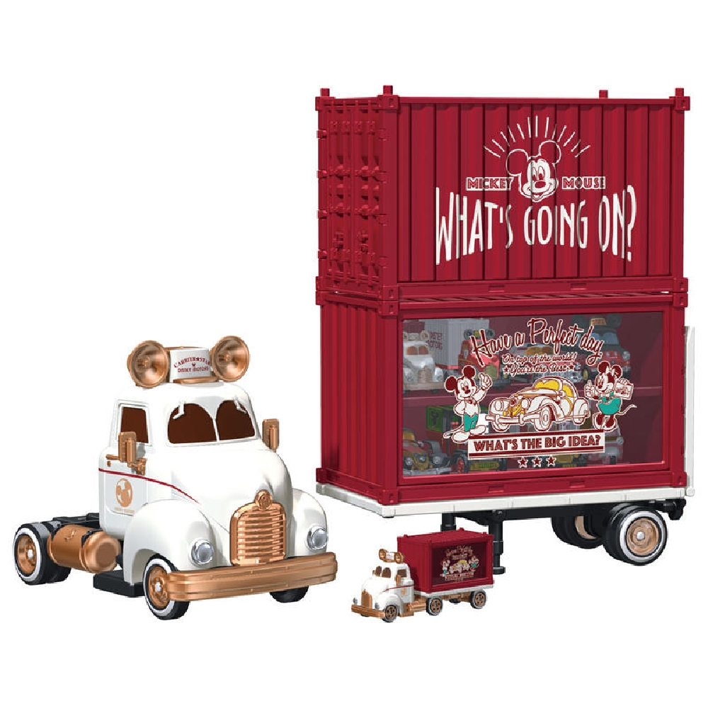 任選TOMICA 迪士尼10週年貨櫃收納車(附1小車)-DS12815多美小汽車