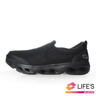LOTTO 義大利 男 EASY FLOW 2 健步鞋 (黑)