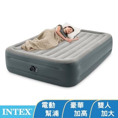 【INTEX】豪華加高雙人加大充氣床墊-寬152x高46cm (64125ED)