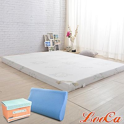 (開學組)LooCa 旗艦款防蹣輕釋壓8cm記憶床墊-雙人5尺