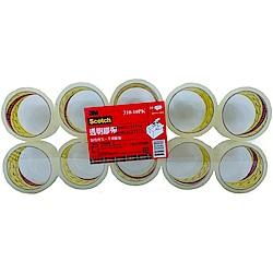 3M Scotch 超透明封箱膠帶(4.8cmX40mX10入)
