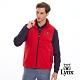 【Lynx Golf】男款進口瑞士Schoeller 3XDRY鋪棉無袖背心-暗紅色 product thumbnail 2