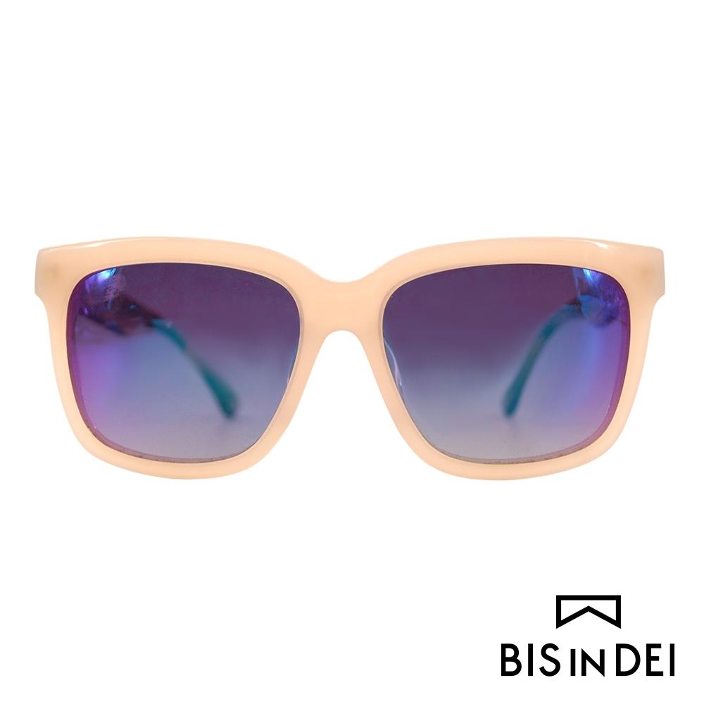 BIS IN DEI 撞色大方框太陽眼鏡-杏