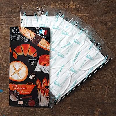 日本Prairiedog 攜帶口罩收納夾(含5枚四層防塵口罩)-麵包店