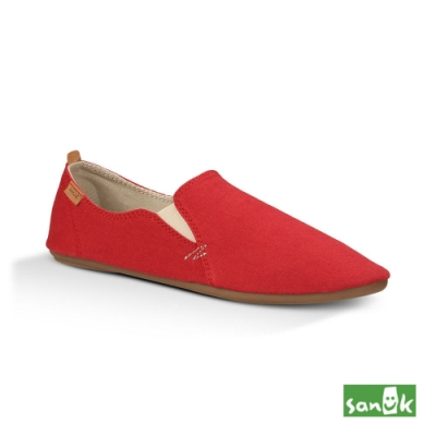 SANUK 女款 US6 復古舞鞋設計休閒鞋(紅色)