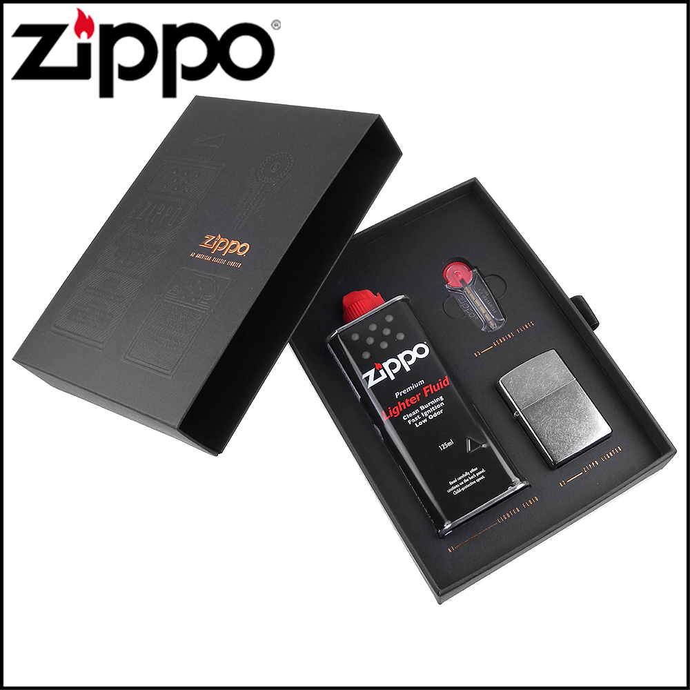 ZIPPO Luxury奢華版原廠禮盒組~附補充油、打火石、提袋,可搭配打火機購買
