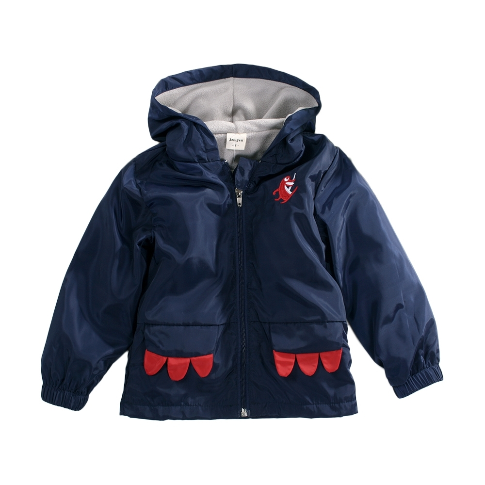 秋冬防風雙層連帽外套 k61008 魔法Baby