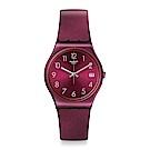 Swatch REDBAYA 閃耀酒紅手錶