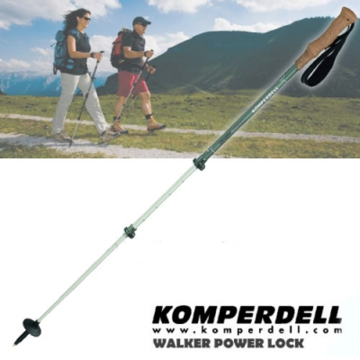 KOMPERDELL 新款 RIDGEHIKER CORK 7075 航太鋁合金強力鎖定軟木握把健行登山杖