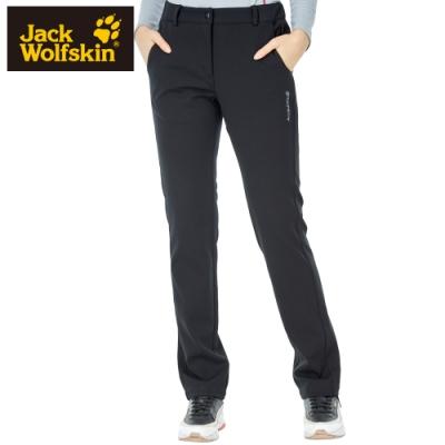 【Jack wolfskin 飛狼】女 彈性休閒保暖排汗長褲『黑色』