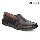 ECCO RECIPRICO 商務休閒素面紳士樂福鞋 男-黑