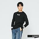 H:CONNECT 韓國品牌 男裝-PLAY圓領針織上衣-黑