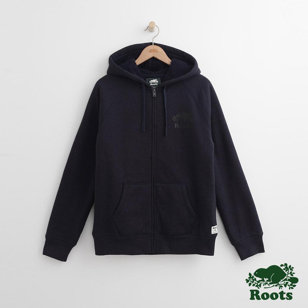 Roots 男裝-道森連帽外套-藍