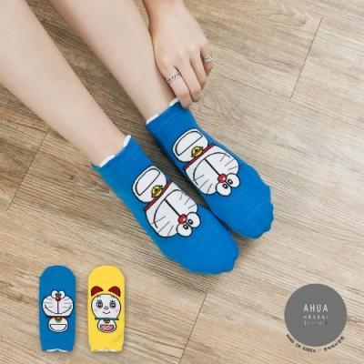 阿華有事嗎 韓國襪子 哆啦A夢全版短襪 韓妞必備短襪 正韓百搭卡通襪
