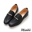 Miaki-樂福鞋韓風穿搭平底休閒包鞋-黑
