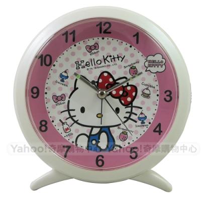 Hello Kitty 塗鴨風淘氣貪睡鬧鐘 JM-F6333KT-W