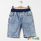 bossini男童-牛仔休閒短褲04靛藍