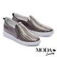 休閒鞋 MODA Luxury 質感編織紋理全真皮內增高休閒鞋-古銅 product thumbnail 1