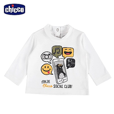 chicco-To Be Baby-3C熊長袖上衣-米(18個月-4歲)