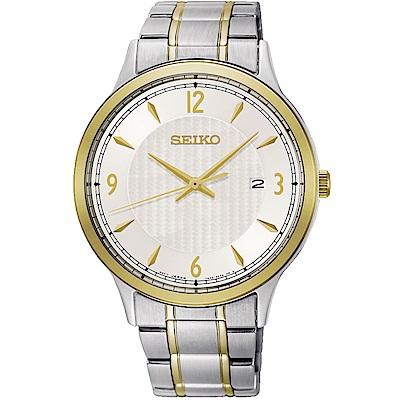 SEIKO精工 CS系列城市戀人大三針男錶(SGEH82P1)-銀x雙色/40mm
