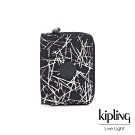 Kipling 英式粉白漆塗鴉短夾-MONEY LOVE