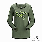 Arcteryx 24系列 女 有機棉 LOGO長袖T恤 松綠