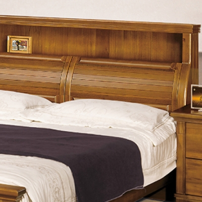AS 艾達全實木雙人5尺床頭-150x36x120cm